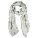 Wrendale Designs Leaping Hare Design Scarf