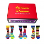 Awesome Teacher Gift Set - Assorted Oddsocks for Men