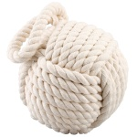 Nautical Weighted Cream Rope Ball Doorstop