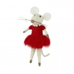 Heaven Sends Wool Mouse in Dress Decoration