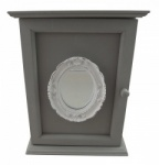 Shabby Chic Grey Mirrored Keybox Hall Decoration