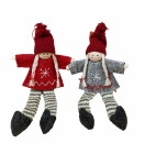 Sass & Belle Set of 2 Scandi Girl Christmas Decorations