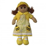 Powell Craft Childrens Fabric Rag Doll - Bumble Bee Design