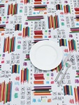 Peggy Wilkins Pvc Childrens Tablecloth - Crayons Design
