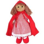 Powell Craft Childrens Fabric Rag Doll - Red Riding Hood Design