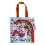 Unicorn and Rainbows Mini Tote Lunch Bag from Rachel Ellen