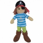 Powell Craft Childrens Fabric Rag Doll - Pirate Design