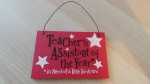 Teacher's Assistant of the Year Hanging Wooden Plaque from The Bright Side