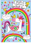 Rachel Ellen Magical Unicorn Girls Writing Set Folder