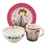 Rachel Ellen Princess Ceramic Boxed Breakfast Set