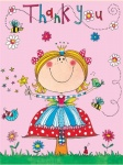 Rachel Ellen Girls Princess Themed Thank You Cards