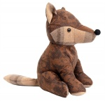 Sil Weighted Fabric Fox Doorstop