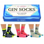 Cockney Spaniel 3 Pairs of Novelty Gin Socks - Boxed Set