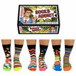 United Oddsocks - Socks Addict Novelty Mens Socks 6-11