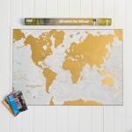 Lovell Johns Scratch The World Map Wall Feature