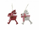 Heaven Sends Set of 2 Reindeer Christmas Tree Decorations