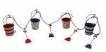 Shoeless Joe Buckets and Spade Bunting Nautical Decoration
