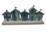 Shoeless Joe Marine Coloured Beach Huts Nautical Decoration