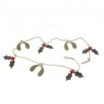 Shoeless Joe Mistletoe and Holly Christmas Garland