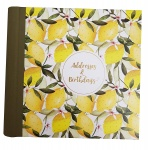 The Artfile Oranges & Lemons Address & Birthday Book