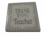Gisela Graham Thank You Teacher Ceramic Coaster Gift