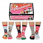 United Oddsocks Mistletoes Ladies Christmas Socks