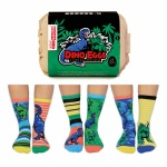 United Oddsocks Childrens Dino Egg Socks - Size 12-6
