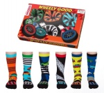 United Oddsocks Wheely Good Car Themed Children's Socks - 12 - 5.5