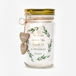 Widdop Kiss Me Under The Light Of A Thousand Stars Glass Wedding LED Jar
