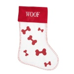 Widdop Gifts Red & White Dog Stocking - Woof