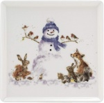 Wrendale Designs Gathered Around Christmas Design Square Plate