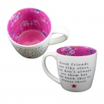 WPL Gifts Friends Are Like Stars Pretty Floral Mug