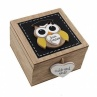 Best Teacher Owl Wooden Trinket Box