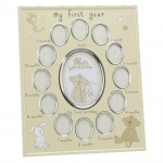 Widdop My First Year Yellow Oval Baby Photo Frame