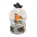 Cute Robin Miniature Christmas Snow Globe Ornament
