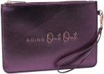 CGB Giftware Going Out Out Purple Metallic Beauty Bag