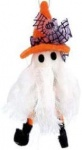 Gisela Graham Wool and Fabric Ghost Hanging Halloween Decoration