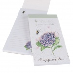 Wrendale Designs Hydrangea and Bee Magnetic Shopping List Pad