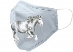 Wrendale Designs Dapple Grey Horse Design Face Covering