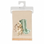 Wrendale Designs Beige Dog Design Winter Scarf with Gift Bag