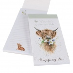 Wrendale Designs Highland Cow Magnetic Shopping List Pad