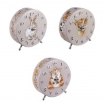 Wrendale Designs Country Animals Illustrated Freestanding Mantel Clocks - Choice of Design