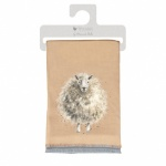 Wrendale Designs Beige Sheep Winter Scarf With Gift Bag