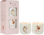 Wrendale Designs Set of 2 Hawthorn Blossom and Rosehip Ceramic Candles