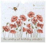 Wrendale Stationery Everlasting Birthday Calendar - The Country Set