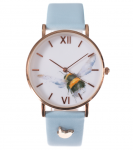 Wrendale Designs 'Flight Of The Bumble Bee' Leather Watch