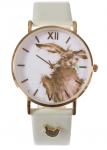 Wrendale Designs 'Hare Brained' Leather Watch