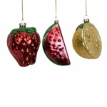 Widdop Bingham Set of 3 Glass Fruit Baubles