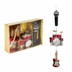 Widdop Bingham Set of 3 Music Themed Glass Baubles