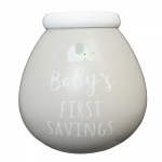 Pot Of Dreams Baby's First Savings Breakable Money Pot